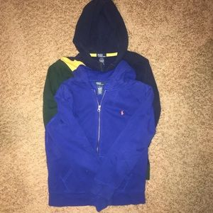 Set of 2 boys Ralph Lauren hoodies size L